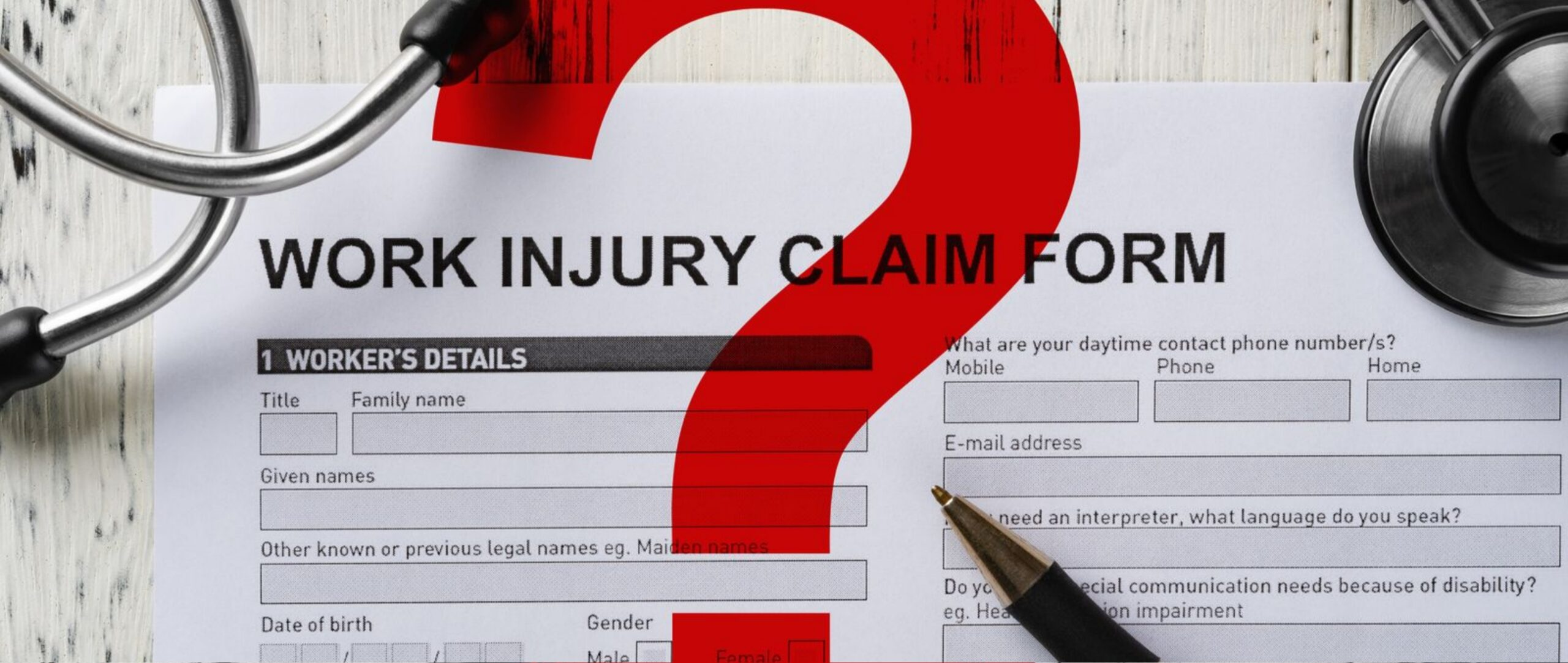 Questions on Work Injury Claim Form