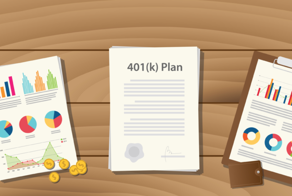 Illustration of three clipboards with different retirement plans on them